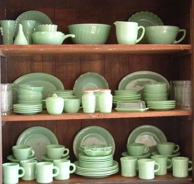 Jadeite Fire King dishes. Started my collection today!