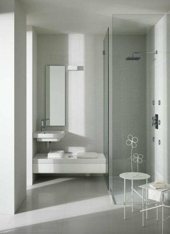 kleines bad ideen moderne badezimmer bodengleiche dusche ...