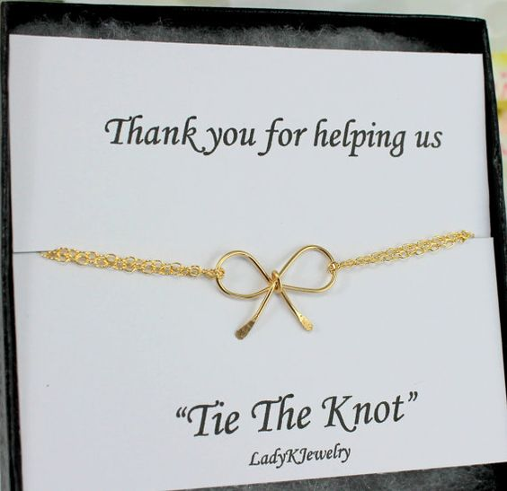 Our dainty little bow bracelet is a sweet simple bracelet that will make lovely bridesmaid gifts to show how much you appreciate your best girls for