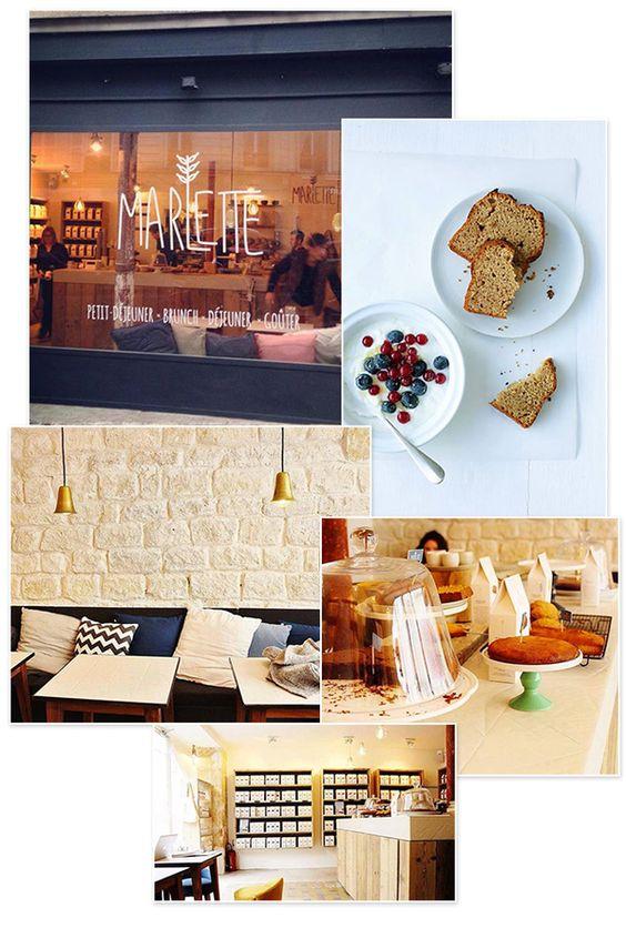 Café Marlette, un brunch bio, avec au menu une large variété de pâtisseries maison, sans réservation, 51 Rue des Martyrs, Paris 9ème