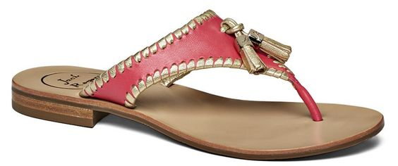 Alana Tassel Sandal in Pink and Gold