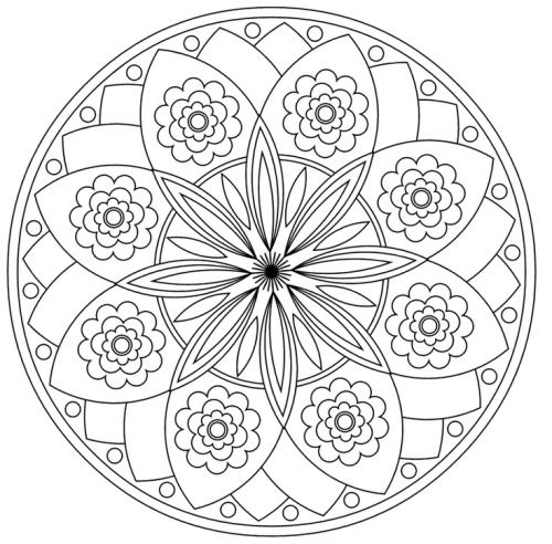 google images mandala coloring pages - photo#9