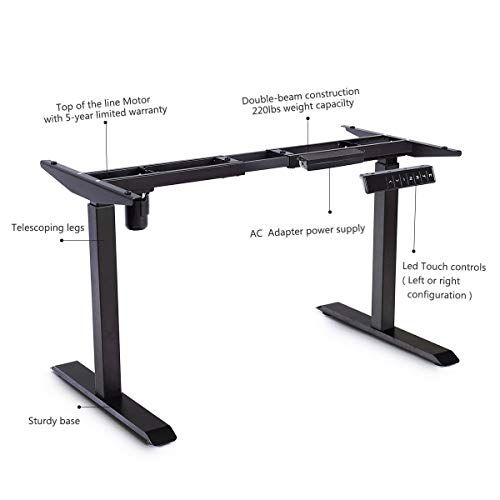 Lucky Gift Electric Height Adjustable Standing Desk Frame With Memory Control Adjustable Height Standing Desk Standing Desk Frame Adjustable Standing Desk
