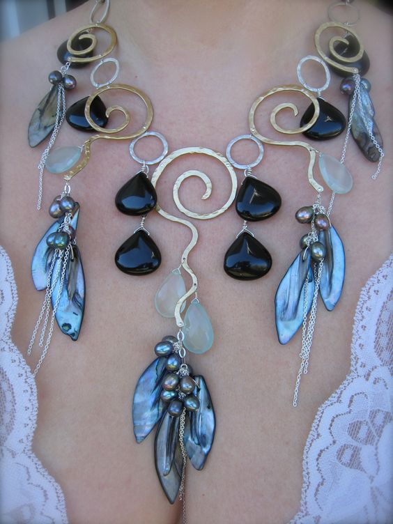 http://noracatherine.com    Silver, mint, brushed bronze and black onyx