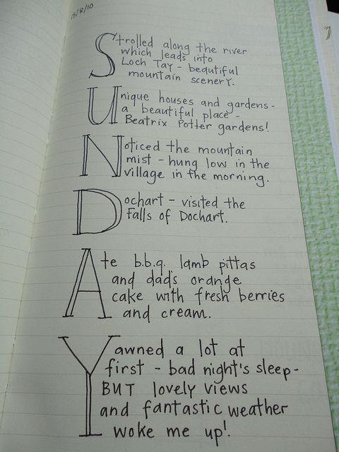 Cool journaling idea