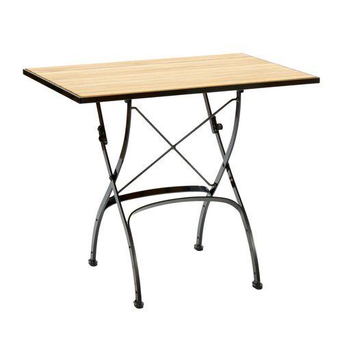 Fontenay Tisch 85 X 60 Klappbar Teakleisten Teak Tisch Klappbarer Tisch