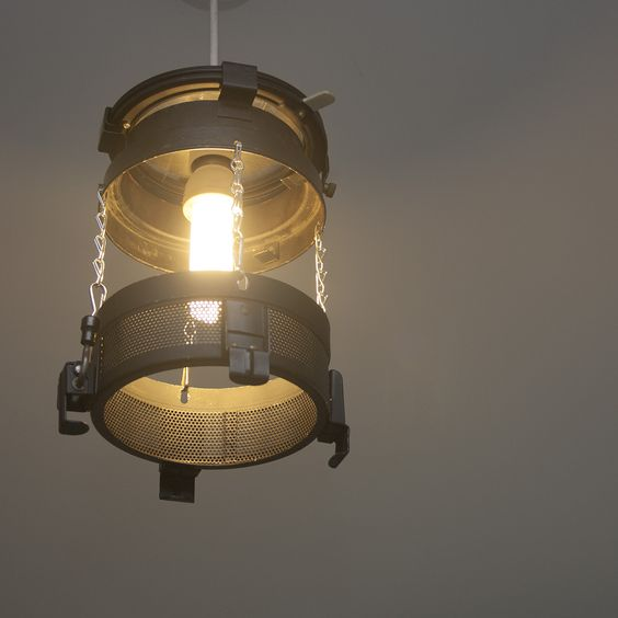 A DIY Lampshade I Made From Old Lighting Rig. Has A