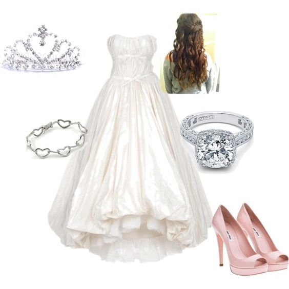 blushing bride, created by cutenfun on Polyvore