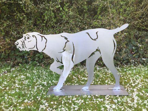 Rostfigur Edelrost Gartenfigur Deutsch Drahthaar Hund Terma Stahldesign De Deutsch Drahthaar Gartenfiguren Edelrost