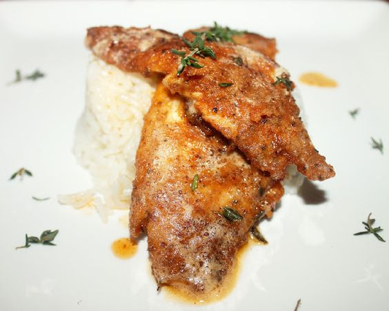 Creole pan fried fish with thyme brown butter sauce for Sauce for fried fish