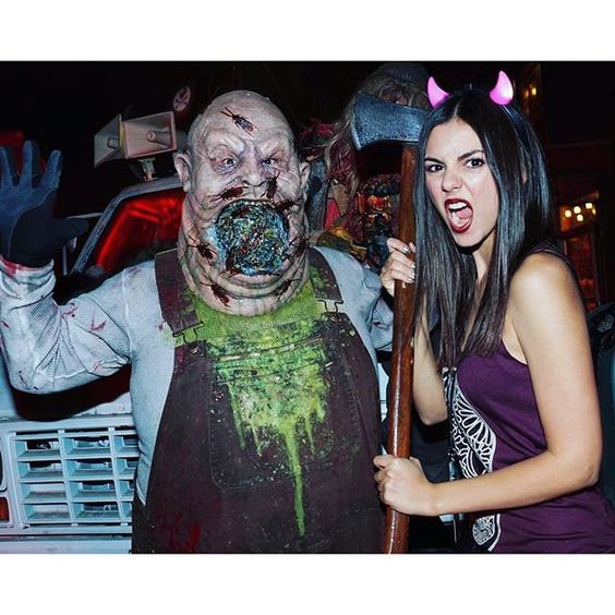 Pin for Later: Your Favorite Stars Got Into the Halloween Spirit With These Fun Costumes Victoria Justice as a Devil
