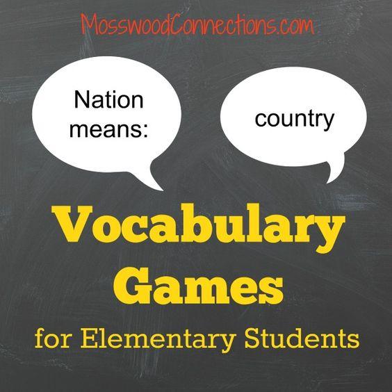 Vocabulary Lesson Classroom Ideas - University of Missouri