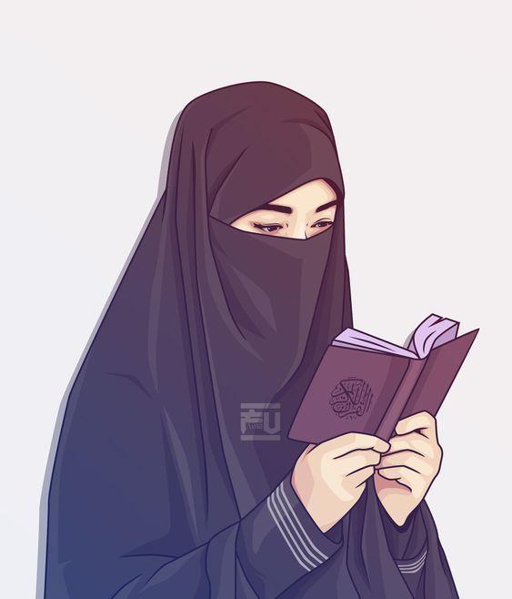150 Gambar Kartun Muslimah Berkacamata Cantik Sedih Terlengkap Ilustrasi Orang Kartun Gambar