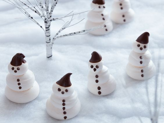 Meringue Snowmen
