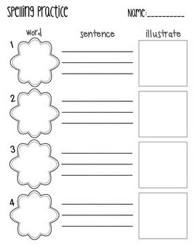 Worksheet Wednesday: Spelling Practice and Refabifying   TpT FREE ...