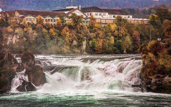 Rhine Falls http://ift.tt/1HE7tZi EuropeRhine FallsRhinefallSwitzerlandlakelandscapelargestriverrockswaterwaterfall