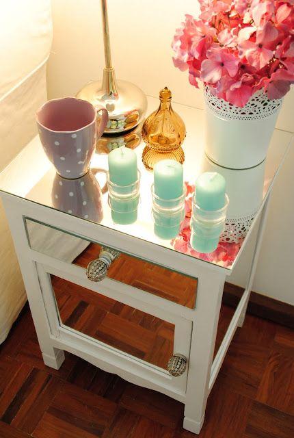 ACHADOS DE DECORAÇÃO - blog de decoração: ANTES E DEPOIS: o criado mudo antigo ficou muito glamouroso!: