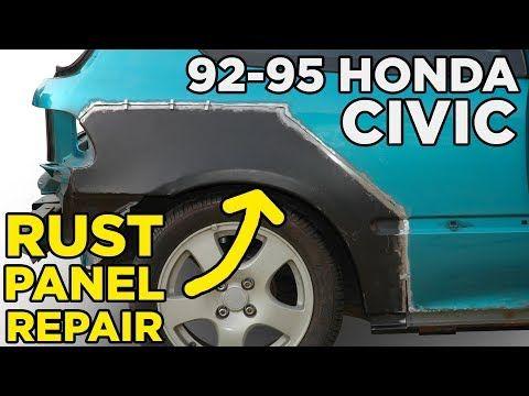 Honda Civic Eg Rear Quarter Rocker Panel Rust Repair Slideshow Youtube Honda Civic Civic Eg Civic