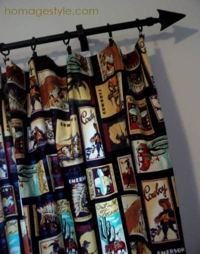 Curtain Rods cowboy curtain rods : vintage cowboy room | homagestyle.com projects | Pinterest ...