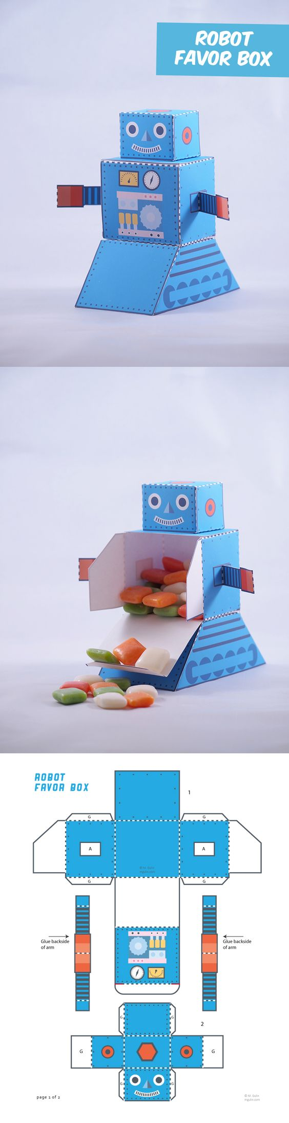 Create Your Own Old School Robot Favor Box Share Your