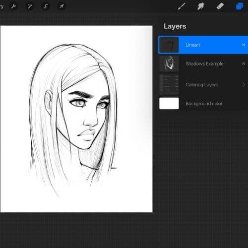 Best Brushes For Painting On Procreate Alicja Prints Digital Art Illustration Digital Art Girl Digital Drawing