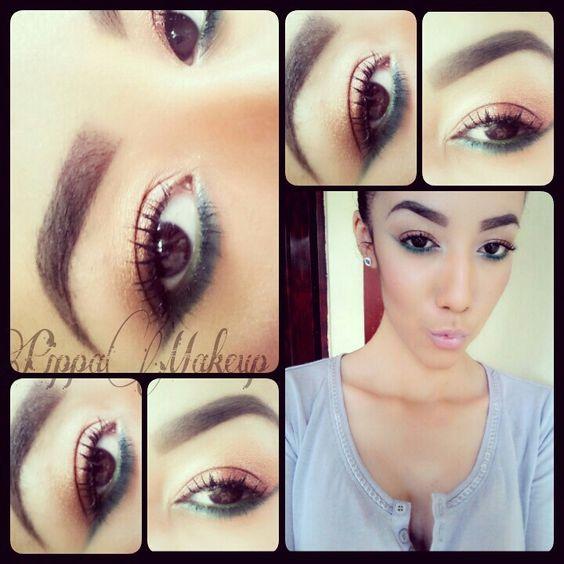Makeup / green and gold makeup