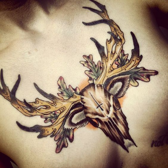 100 Ladies Chest Tattoos