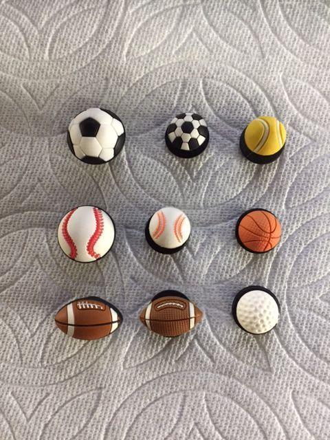 Clog Shoe Plug Charms Basket Ball Football Bracelet Sandal Jewelry Accessories
