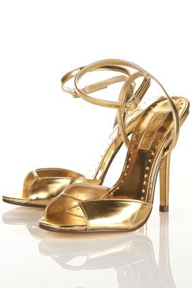 Go for the Gold!!  RADIANT Mirror Gold Sandals