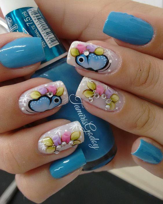 30 Modelos de unhas decoradas com borboletas