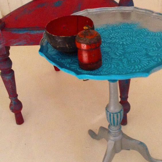 Painted furniture upcycle by deldesigned.com