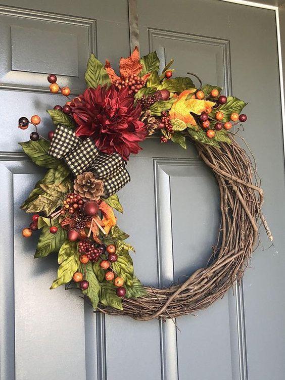 Fall Wreaths For Front Door Wreaths For Front Door Fall Wreath