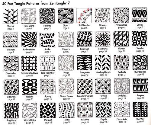 Pdf Zentangle Patterns Steps