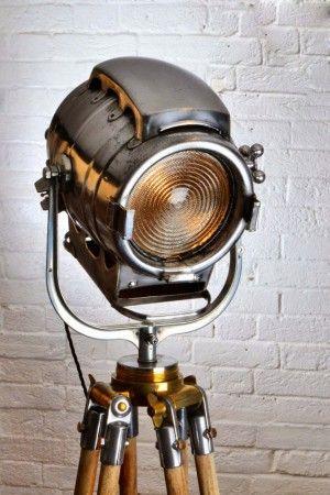 Industrieel interieur - industriële vloerlampen - industriële ...