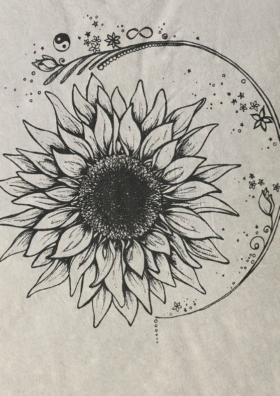 Sunflower tattoo/similar to sun and moon