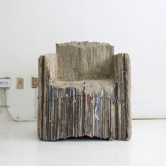 fauteuil tout en carton