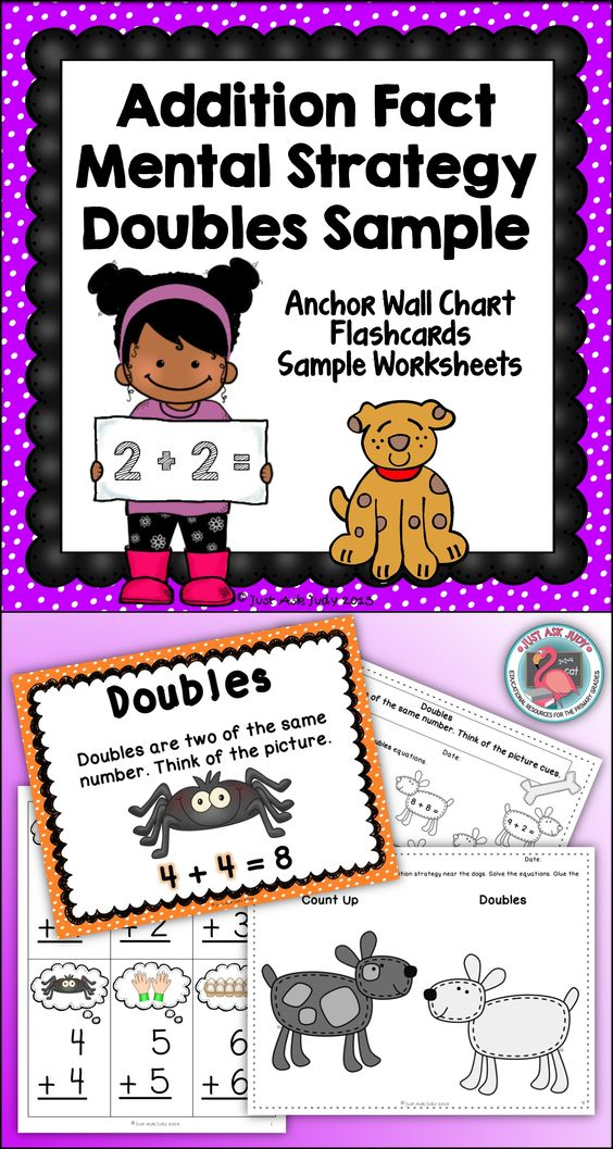 Doubles Addition Addition Facts And Color Pictures On