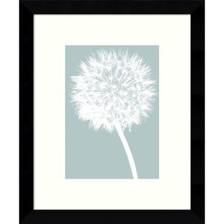 Framed Art Print 'Dandelion (Blue)' by Jenny Kraft 9 x 11-inch