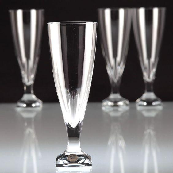 4 Peill Karat Sektglaser Champagnerglaser Wilhelm Wagenfeld Glaser 60er 60s T Champagner Glas Sekt