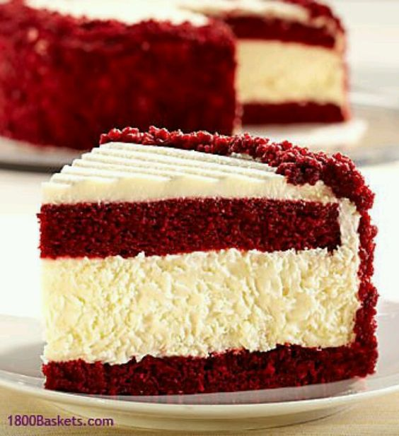 Redvelvet Cheesecake YUMMY!! my two favorite desserts together!!