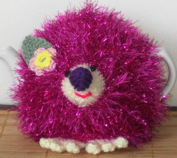 wee Rosie .....a fluffy sparkly hedgehog.... by peerietreisures