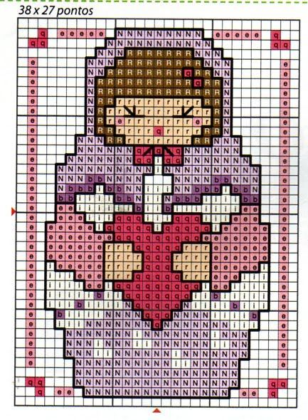 Free Matryoshka with Heart hama perler bead pattern or cross stitch chart