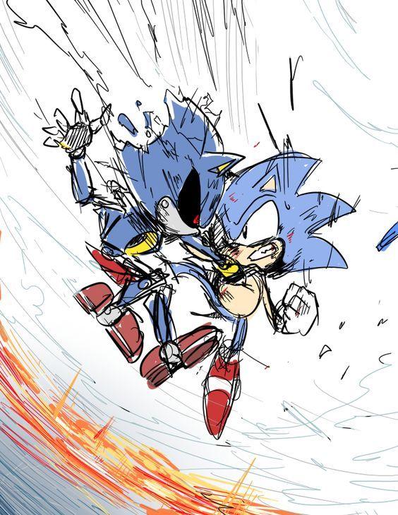 Pin By Blueblur24 On Sonic Hedgehog Art Classic Sonic Sonic Art