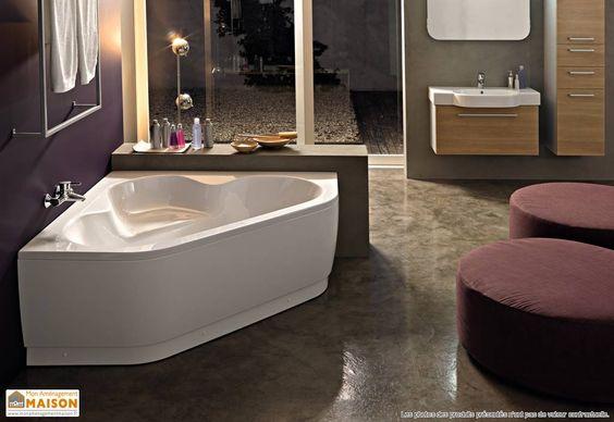 Baignoire d angle recherche google projet maison id e for Idee deco baignoire