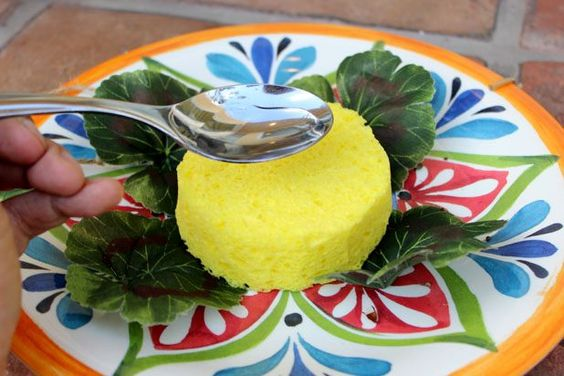 HOW TO MAKE A BUTTERFLY FEEDER    Spoon the sugar water onto the sponge