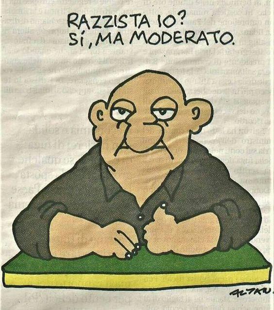 La vignetta d Autore di Altan: il razzista del terzo millennio