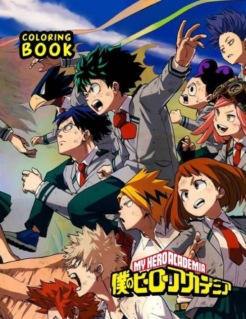 My Hero Academia Coloring Book Anime Hero No Boku Adademia 1 2 Season Coloring Pages By Anime Books P Personajes De Naruto Anime Novios Personajes De Anime