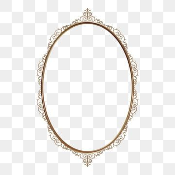 Decorative Oval Frame With Classical Gold Color Royal Background Vector Png And Vector With Transparent Background For Free Download