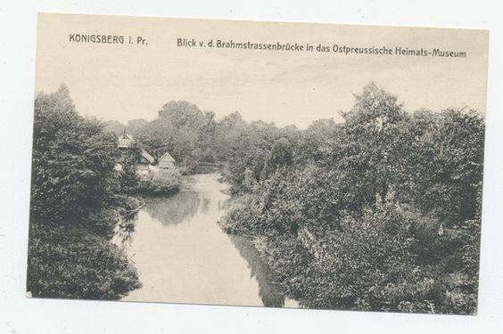 Königsberg (Pr.), Tiergarten, Blick v. d. Brahmstrassenbrücke in das Ostpreussische Heimat-Museum