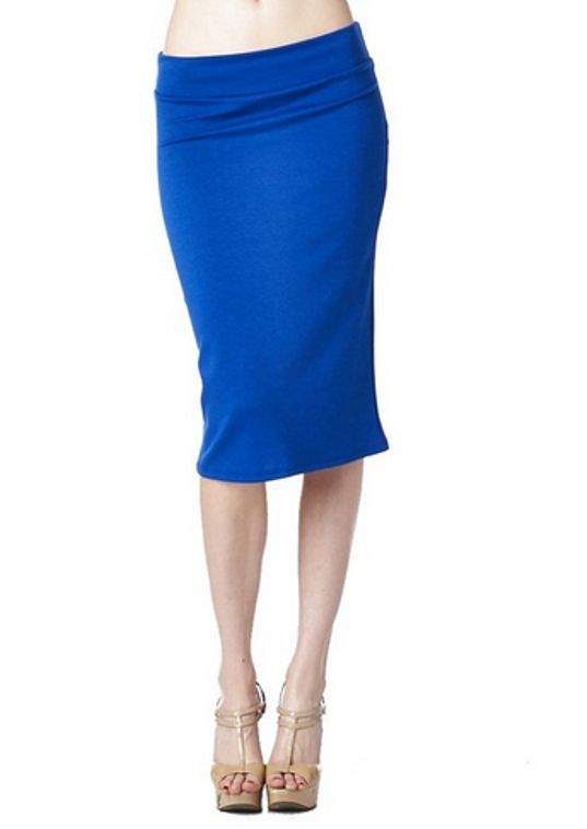 82 Days Women's Ponte Roma From Office Wear To Below Knee Pencil Skirt [$16.99]